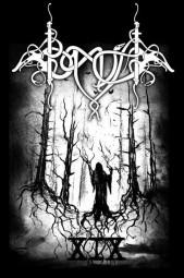Barther Metal Open Air Shirt 2017 -schwarzes Shirt/weisses Motiv