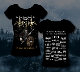 Abb.: Barther Metal Open Air Girlie Shirt 2018 -Motiv 1 - Viking