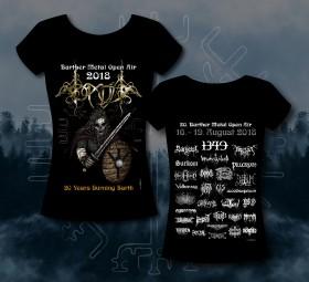 Barther Metal Open Air Girlie Shirt 2018 -Motiv 1 - Viking