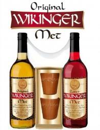 Wikinger-Met Geschenkset, 2 Flaschen + 2 Tonbecher