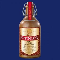 Roter Wikinger-Met, 0,5 l, 6 % in dekorativer Tonflasche